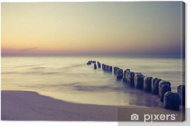 Piękny kolorowy wschód słońca nad Bałtykiem Canvas Print - Landscapes