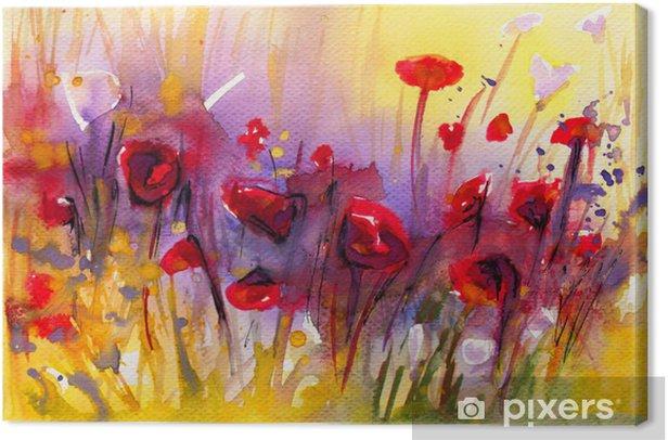 piekny obraz czerwonych maków Canvas Print - Destinations