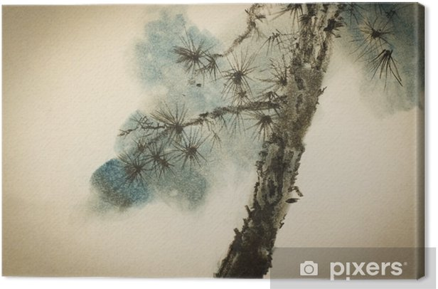 Pine trunk and branches Canvas Print - Plants and Flowers