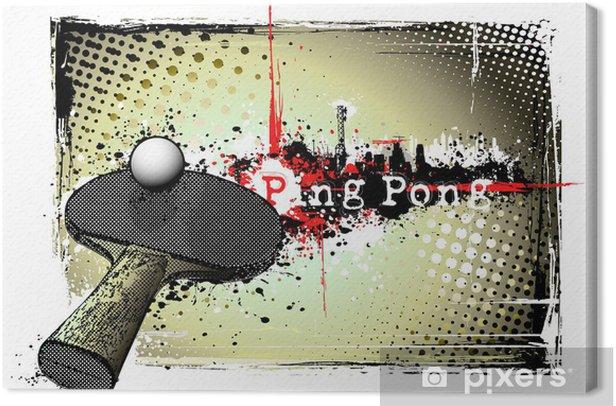 ping pong frame Canvas Print -