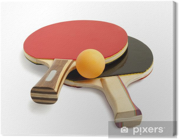 Ping pong paddles and balls Canvas Print - Sports Items