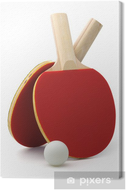Ping-pong rackets and ball Canvas Print - Sports Items