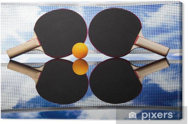 Ping pong Canvas Print - Individual Sports