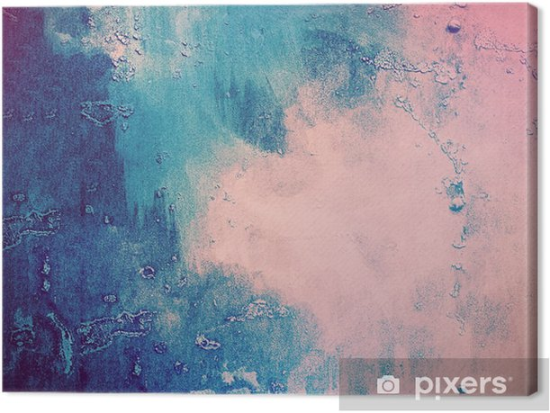 Pink and blue abstract background Canvas Print - Graphic Resources