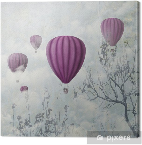 Pink Balloons Canvas Print - iStaging