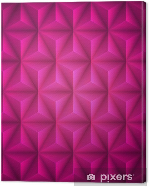 Pink Geometric abstract low-poly paper background. Vector Canvas Print - Graphic Resources