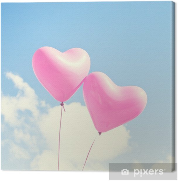 Pink heart balloons Canvas Print - States of Mind