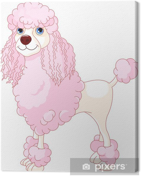 Pink Poodle Canvas Print Pixers We Live To Change