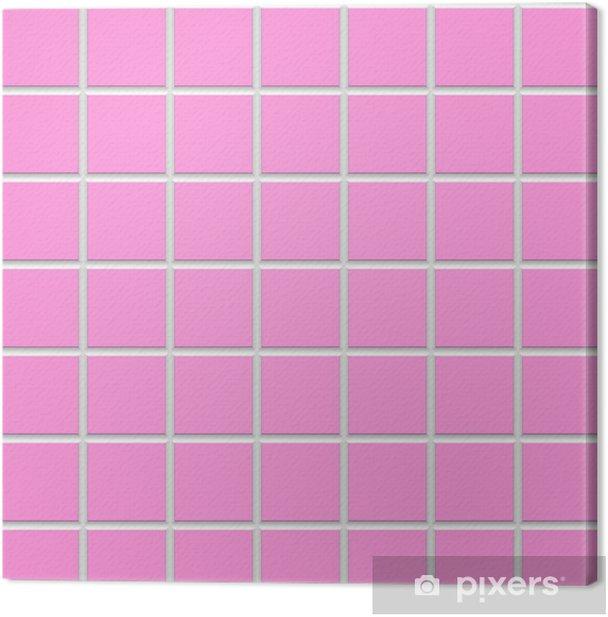 Pink Square Ceramic Tiles Texture