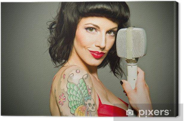 PinUp Canvas Print - Tattoos