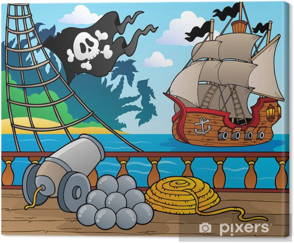 Pirate ship deck theme 4 Canvas Print - Destinations