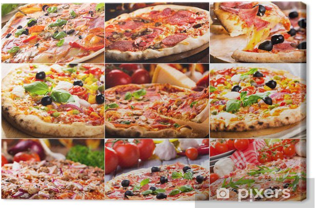 pizza collage Canvas Print - Meals