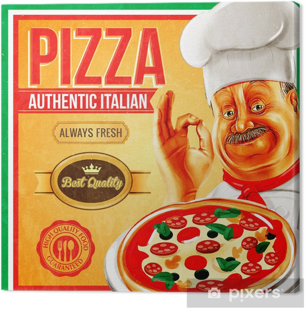 pizza vintage Canvas Print - Styles