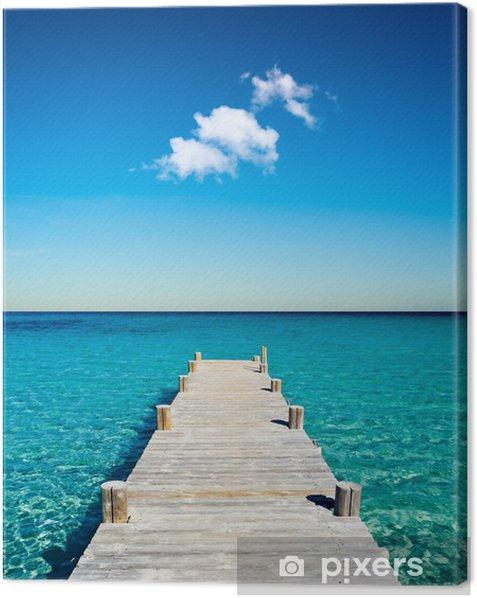 plage vacances ponton bois Canvas Print -