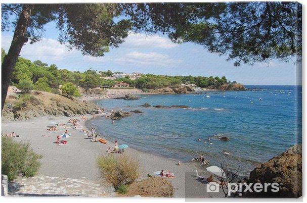 Playa De Les Tonyines Costa Brava Girona Canvas Print Pixers