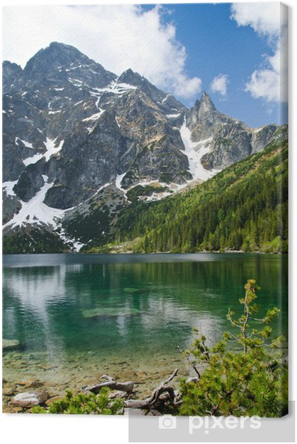 Polish Tatra mountains Morskie Oko lake Canvas Print - Themes