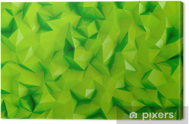 Home Gym Design: Polygonal Lime Green 3d Triangle Geometric Abstract