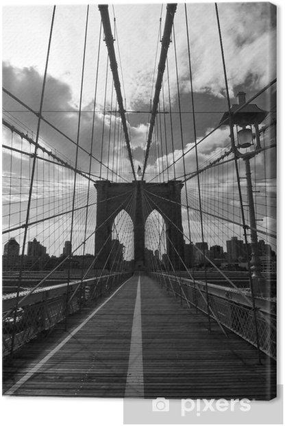 Pont de Brooklyn noir et blanc - New-York Canvas Print - Styles