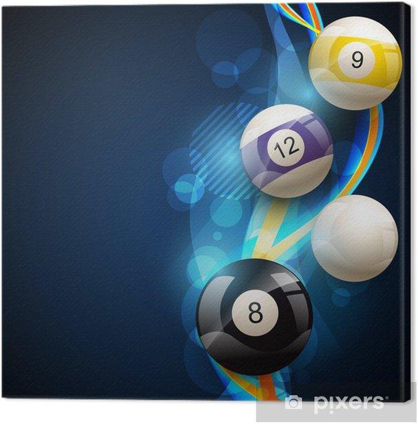 pool balls Canvas Print - Team Sports