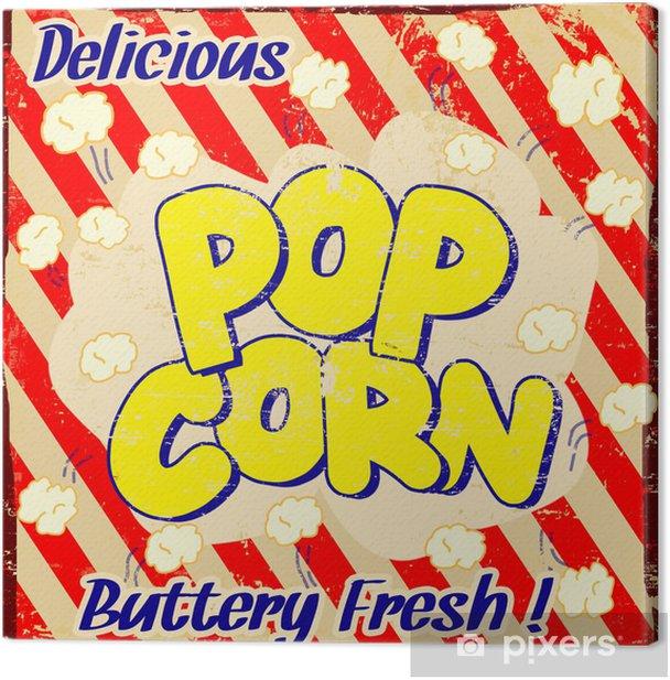 Pop corn vintage poster Canvas Print - Themes