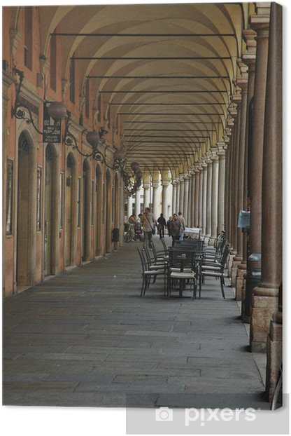 Portici del Collegio, Modena Canvas Print - Urban