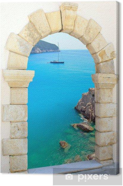 Porto Katsiki beach at Lefkada island, Greece Canvas Print - Themes