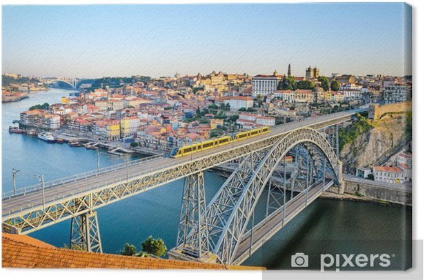 Porto with the Dom Luiz bridge, Portugal Canvas Print - Europe