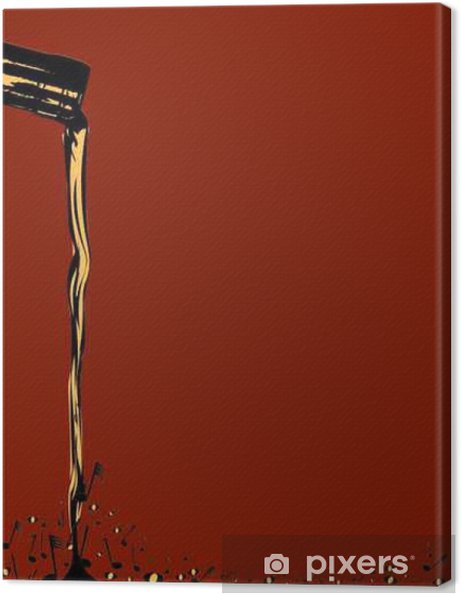 Pouring Musical Wine Canvas Print - Drinks