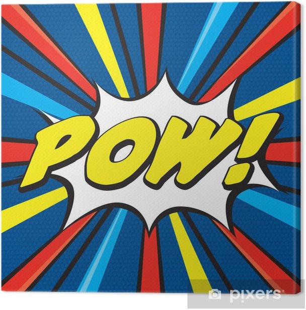 POW! Pop Art Canvas Print - Themes