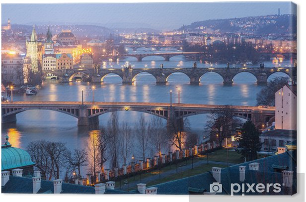 Prague at twilight Canvas Print - Prague
