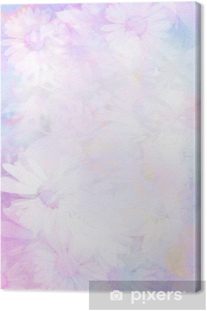 Pretty daisies artistic background Canvas Print - Styles