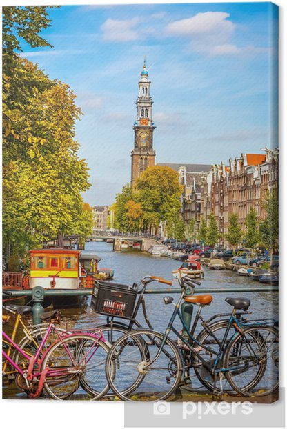 Prinsengracht canal in Amsterdam Canvas Print - Themes