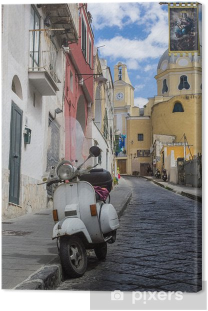 procida island view of an alley Canvas Print - Urban