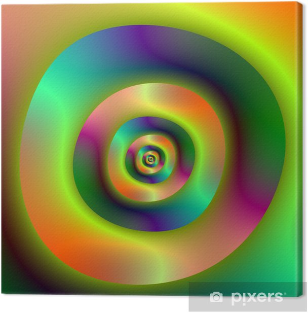 Psychedelic Inside Outside Rings Canvas Print -