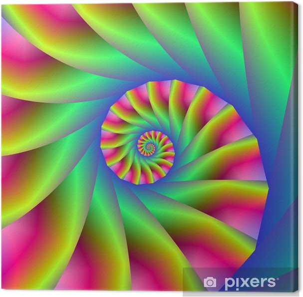 Psychedelic Spiral Steps Canvas Print - Abstract