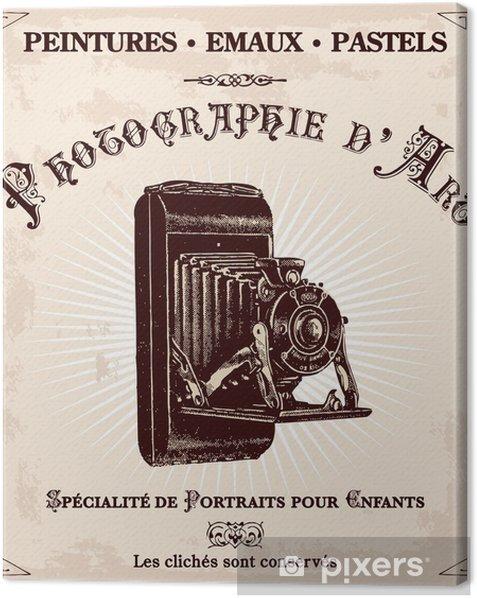 publicité ancienne d'un photographe Canvas Print - Themes