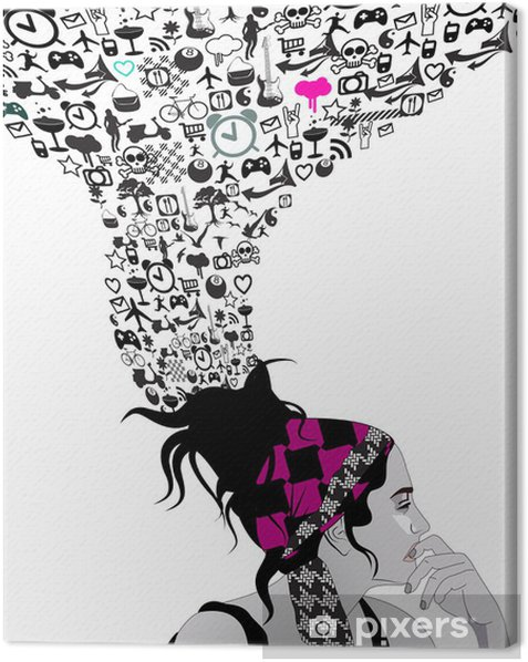 Punk girl Canvas Print - Fashion