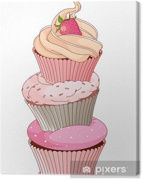 Pyramid of cupcakes Canvas Print - Celebrations