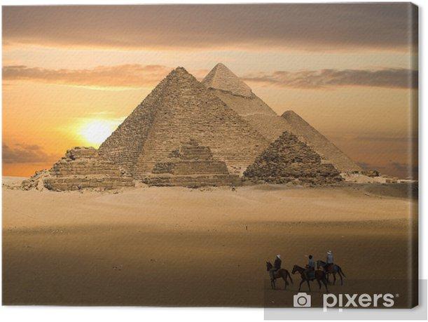 pyramids fantasy Canvas Print - Themes