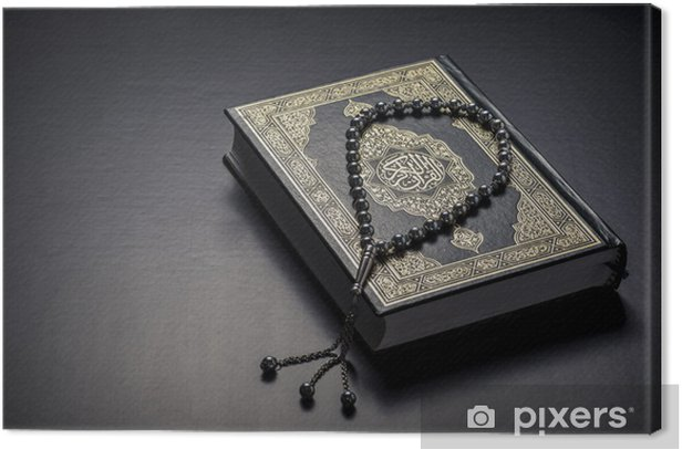Quran Holy Book and Beads Canvas Print - Religion