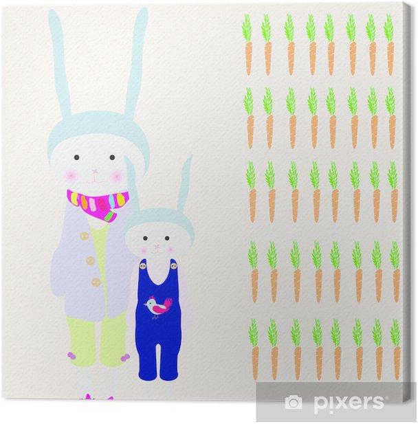 rabbit mom Canvas Print - Rabbits