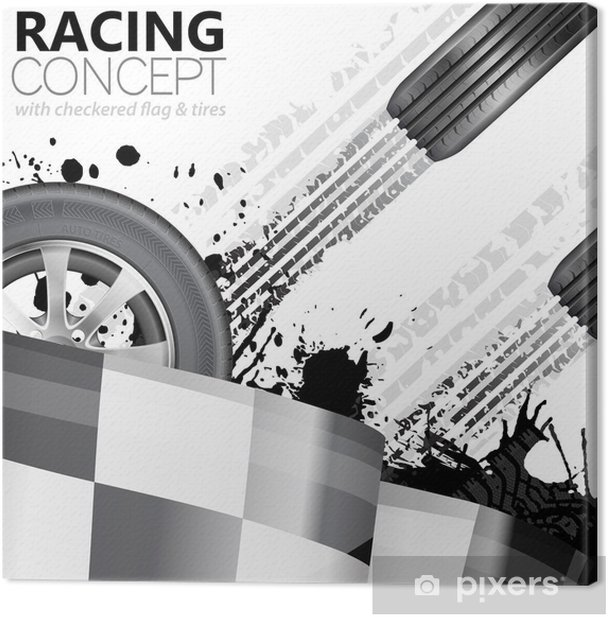 Racing Canvas Print - On the Road