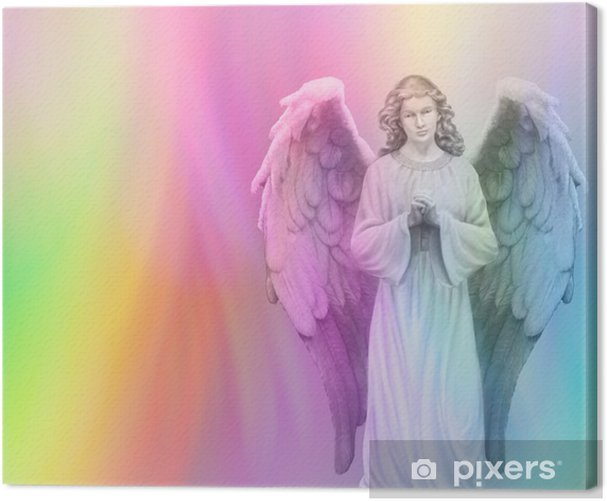 Rainbow Angel 88 Canvas Print - Themes