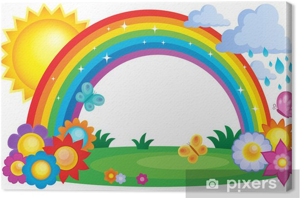 Rainbow topic image 2 Canvas Print - Backgrounds
