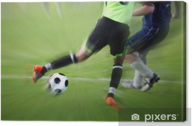 Rasantes Spiel Canvas Print - Team Sports