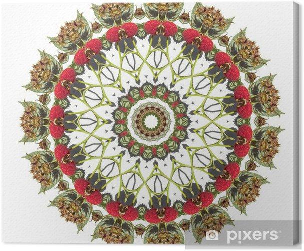 raspberry mandala Canvas Print - Wall decals