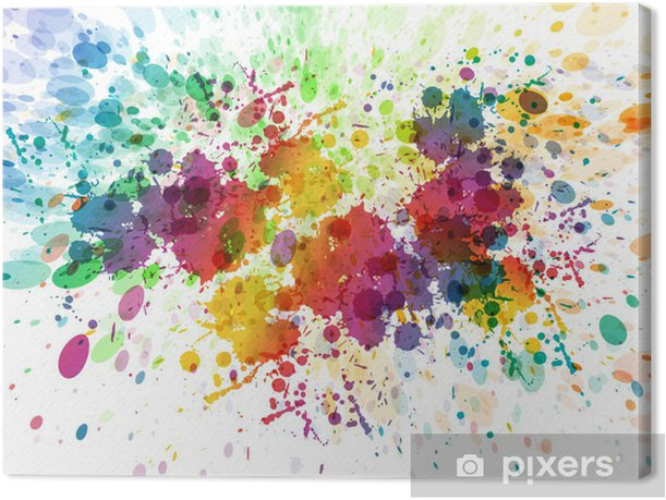 raster version of Abstract colorful splash background Canvas Print - Hobbies and Leisure