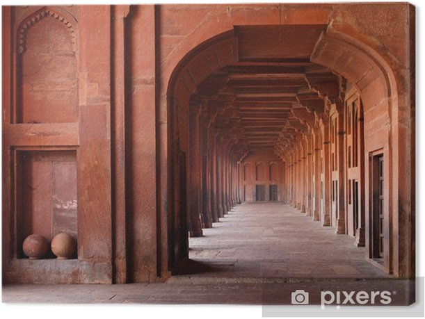 Red Archways in Mosque Canvas Print - Themes
