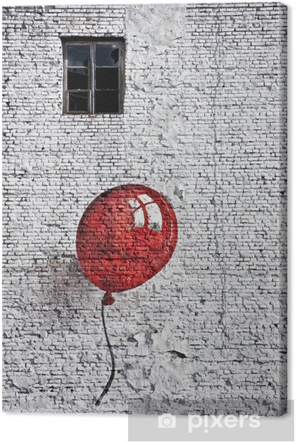 red baloon 4 Canvas Print - Themes