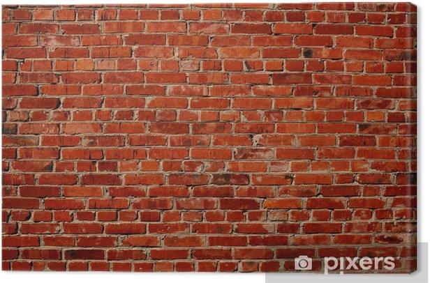 Red brick wall Canvas Print -